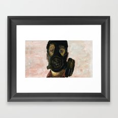 Gas mask Framed Art Print