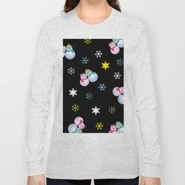Snowflakes & Pair Snowman_E Long Sleeve T-shirt