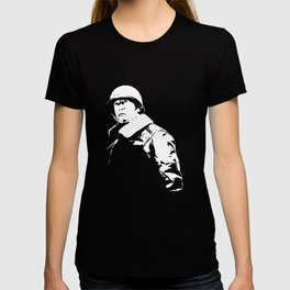 General George Patton - Black and White T-shirt