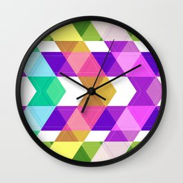 Abstract painting 14 Wall Clock
