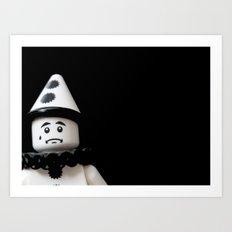 The Sad Sad Clown Art Print
