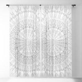 Gray White Mandala Sheer Curtain