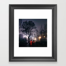 the night has open my eyes. Berlin. Framed Art Print