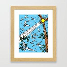 Peace is the Gift of God Framed Art Print