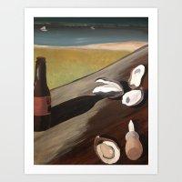 Oyster Bake  Art Print
