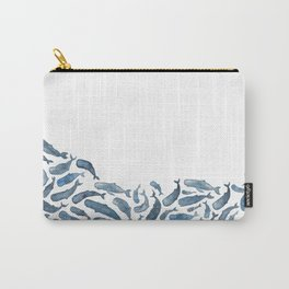 Whale Wave.  Carry-All Pouch