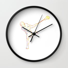 Lacrosse  Strokes gift for Lacrosse Player Wall Clock