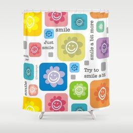 Happy Flower face | Flores Carita feliz Shower Curtain