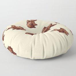 Coffee Bean Sharks Floor Pillow