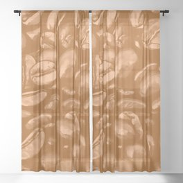 roasted coffee beans texture acrcb Sheer Curtain