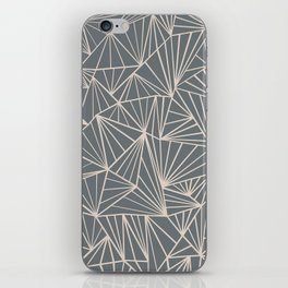 Ab Fan Grey And Nude iPhone Skin
