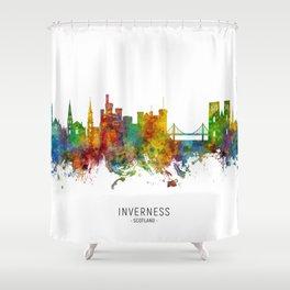 Inverness Scotland Skyline Shower Curtain