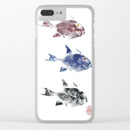 Three trigger fish Clear iPhone Case