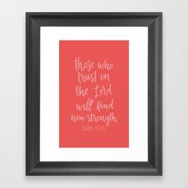 Isaiah 40:31 Framed Art Print