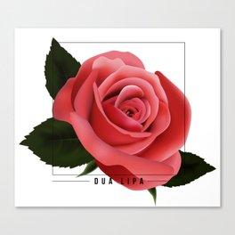 dua lipa: rose 03 Canvas Print