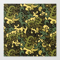 military Canvas Prints featuring Military pattern. by Julia Badeeva