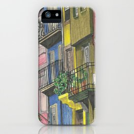 Penciled Cityscapes iPhone Case