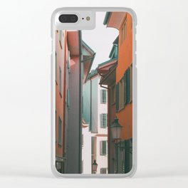 Zurich Alley IV Clear iPhone Case