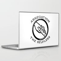 divergent Laptop & iPad Skins featuring Divergent - Abnegation The Selfless by Lunil