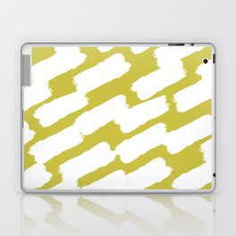 Brushstrokes - Green & White Laptop & iPad Skin