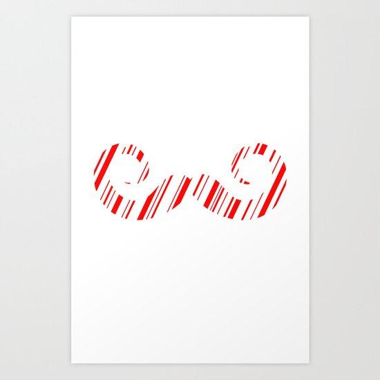 Peppermint Stache Art Print