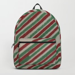 RED AND GREEN STRIPES Backpack
