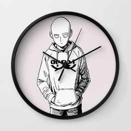 Oppai Black and white Wall Clock