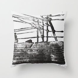 Lines, Black Throw Pillow