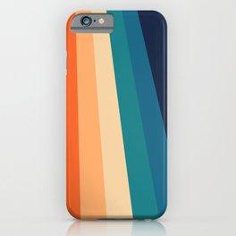 Retro Classic 70's Stripes iPhone Case
