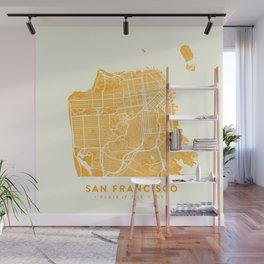 San Francisco City Map 03 Wall Mural
