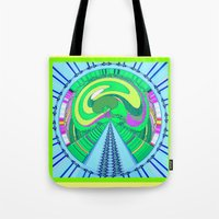 afro Tote Bags featuring afro by Kathead Tarot/David Rivera