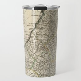 Vintage Map of Barbados (1736) Travel Mug