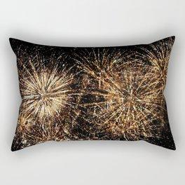 Gold Fireworks Rectangular Pillow