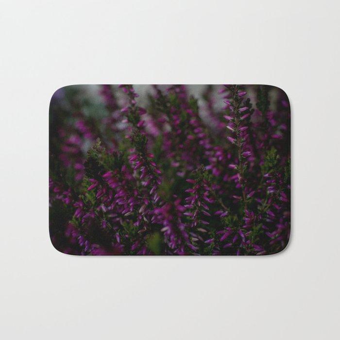 purple flora Bath Mat