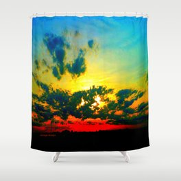 Curdled Clouds Shower Curtain