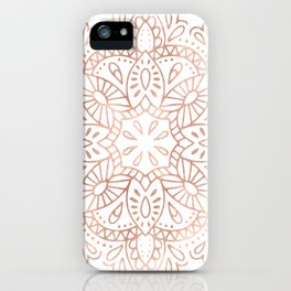 Mandala Rose Gold Pink Shimmer by Nature Magick iPhone Case