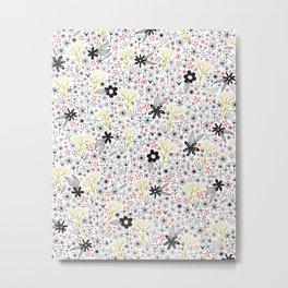 teeny tiny floral pattern Metal Print