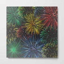 Fireworks in the Sky Metal Print