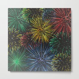 Fireworks in the Sky Metal Print