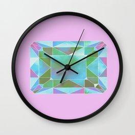 green diamond Wall Clock
