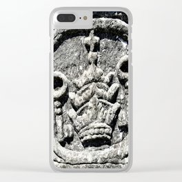 Ancient Church Carvings Clear iPhone Case