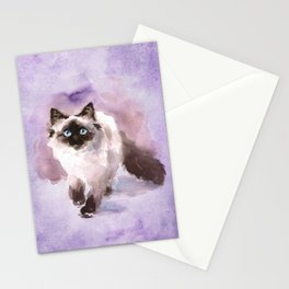 Watercolor Siamese Cat Stationery Cards