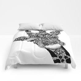 Curious Giraffe Comforters