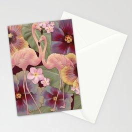 Tropical Fade Flamingos Stationery Cards