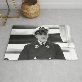 Vintage Navy Officer Rug