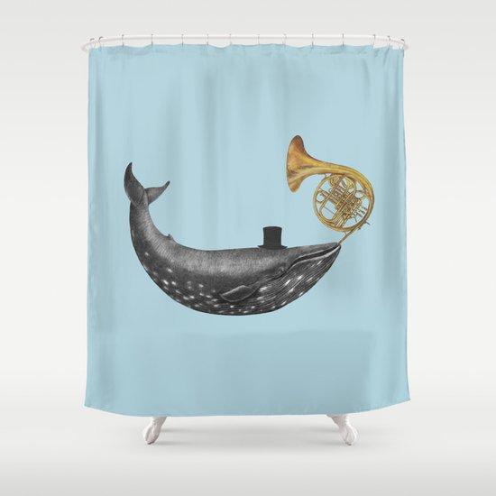 Whale Song - colour option Shower Curtain