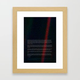 Pale Blue Dot - Voyager 1 - Earth photo, HQ quality Framed Art Print