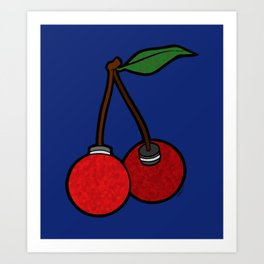 Cherrie Bombs Art Print