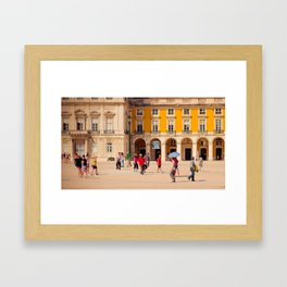 Lisbon Place architecture Framed Art Print