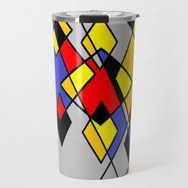 Grey multicolor Travel Mug